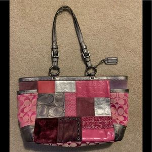 COACH Linited Edition Pink Patchwork Handbag